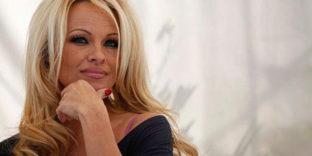 Pamela Anderson en Hollywood en marzo de