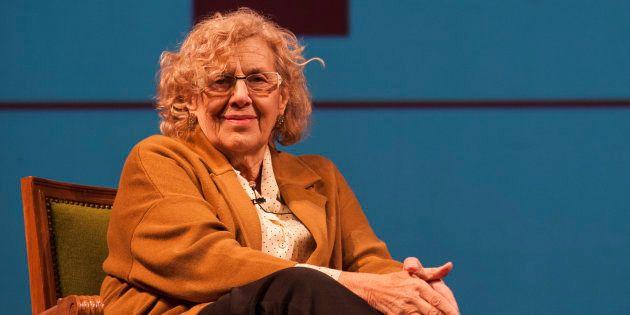 La alcaldesa de Madrid, Manuela Carmena, en la presentación de la temporada del Teatro Español. Quim...