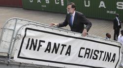 Cachondeo en Twitter con la imagen de Rajoy subiendo al 'Infanta
