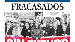 Las portadas de la huelga