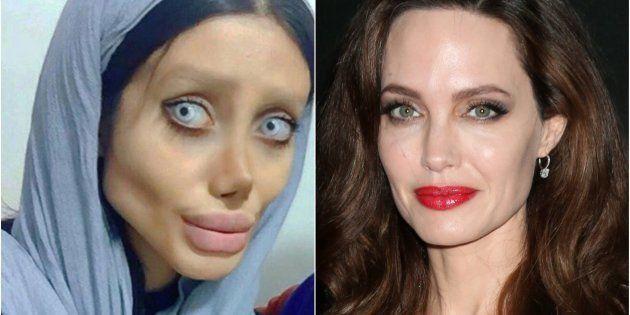 Sahar Tabar, a la izquierda, y Angelina Jolie, a la