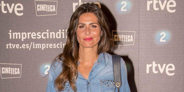 La presentadora Nuria Roca durante la premiere del documental 'Historias para