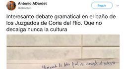 La disputa por culpa de un cartel en unos juzgados de Sevilla que se ha hecho