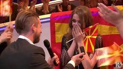 El novio de la cantante de Macedonia le pide matrimonio en la semifinal de