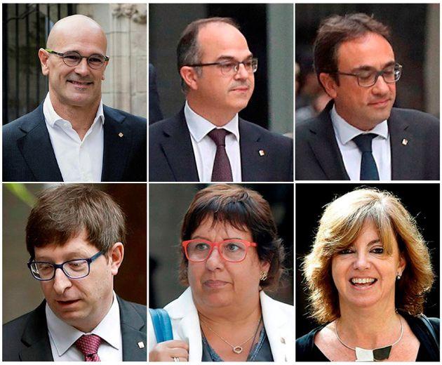 GRAF3394 MADRID, 4/12/2017.- Combo con los exconsellers de la Generalitat Ra�l Romeva, Jordi Turull,...