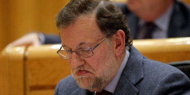 El presidente Mariano Rajoy durante un pleno en el