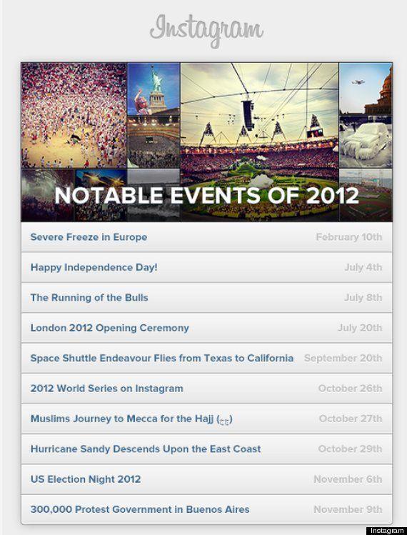 2012 según Instagram: las imágenes que documentan el año