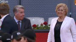 Pitada a Manuela Carmena en el Madrid Open de