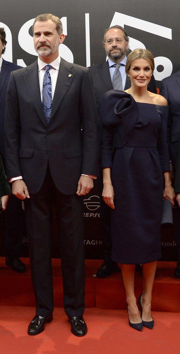 Felipe VI y la reina Letizia en los premio AS del