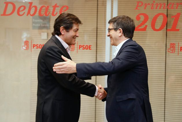 Javier Fernández saluda a Patxi