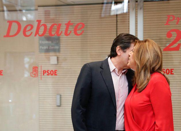 Javier Fernández saluda a Susana