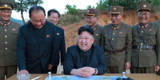 El líder Kim Jong Un en Corea del Norte el 15 de mayo de