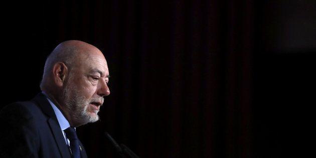 El fiscal general del Estado, José Manuel Maza, retratado el 11 de mayo durante un congreso en