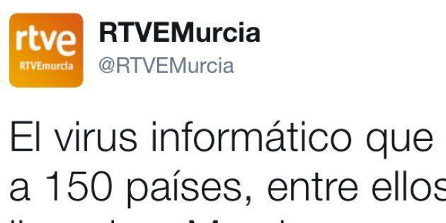 El desconcertante tuit de RTVE sobre Murcia y el ciberataque que arrasa en