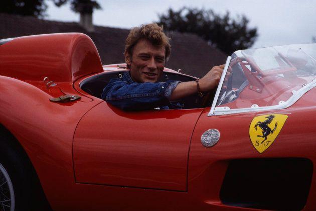 Johnny Hallyday en un Ferrari 250 GT