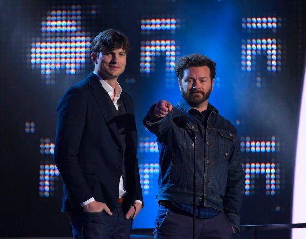 Los actores Ashton Kutcher y Danny Masterson en una gala de premios en Tennessee en junio de