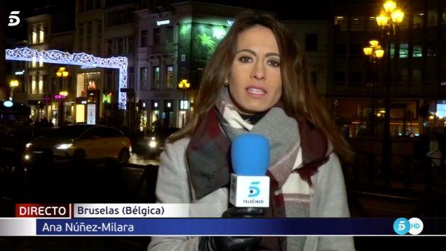 El incómodo momento que vivió esta periodista de Telecinco en pleno