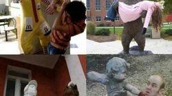 Atacados por estatuas