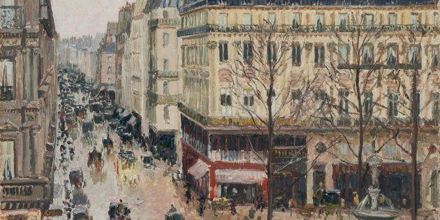 PISSARRO, 'Camille Rue Saint-Honoré por la tarde. Efecto de lluvia',