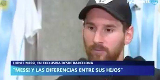 A Messi se le escapa este improperio al hablar de uno de sus
