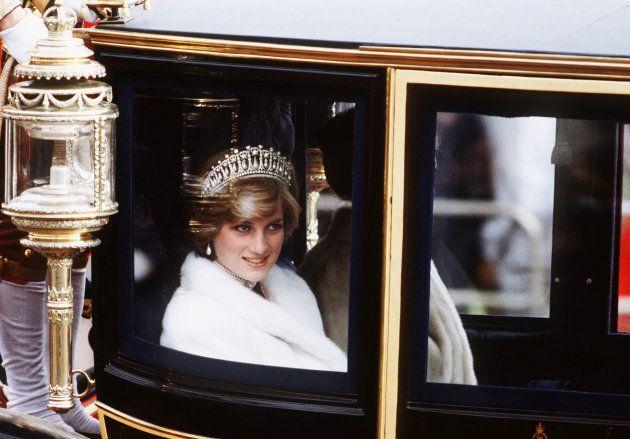 La princesa Diana, en noviembre de 1981, de camino al acto de Apertura del