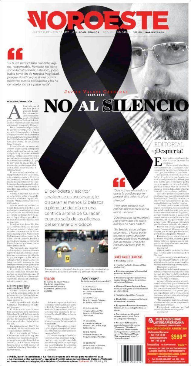 Los medios mexicanos paran y van a negro en protesta por el asesinato de