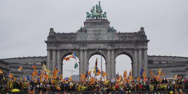 La manifestación en el parque del Cincuentenario en
