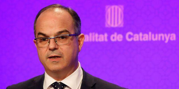 Jordi Turull cuando era conseller de la presidencia de la Generalitat. REUTERS/Gonzalo