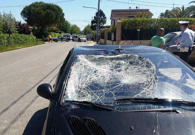 ITA05 MISANO ADRIATICO (ITALIA), 17/05/2017.- Vista del sitio donde tuvo lugar un accidente en el que...