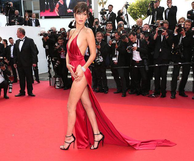 Bella Hadid en la alfombra roja del Festival de Cannes en