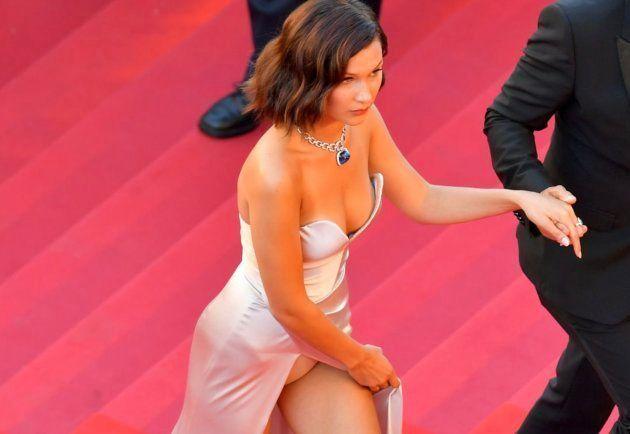El vestido de Bella Hadid deja al descubierto lo que nadie debería haber