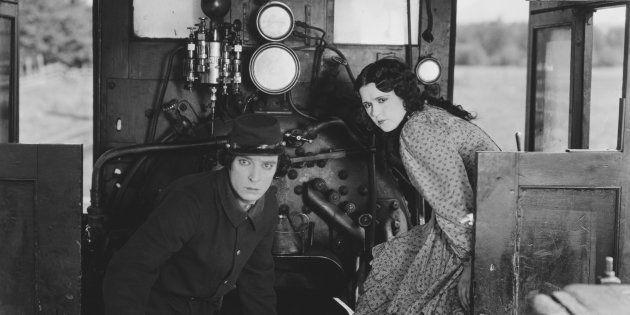 Buster Keaton y Marion Mack en 'El maquinista de la General' ( John Springer Collection/CORBIS/Corbis...