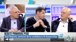 Dos socialistas se enzarzan en 'El programa de Ana Rosa' defendiendo a Susana Díaz y Pedro