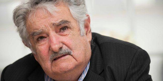 José Mujica, durante un acto en la embajada de Uruguay en Estocolmo en octubre de