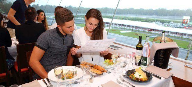 Restaurante Le Panoramique, en pleno hipódromo de