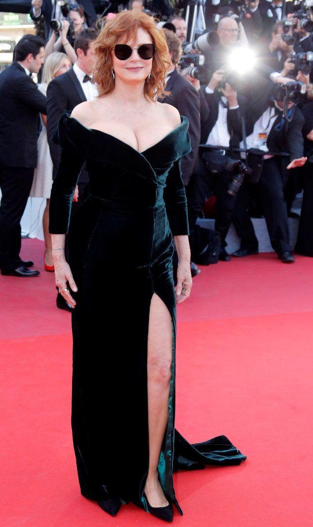 Susan Sarando en la gala inaugural del Festival de Cannes de