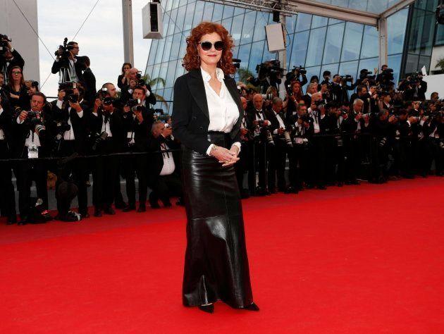 La actriz estadounidense Susan Sarandon a su llegada a la proyeción de la película 'Nelyubov', dirigida...