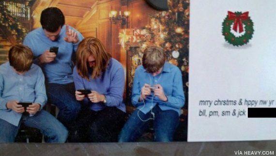 Felicitaciones de Navidad con fotos de familia... originales