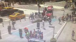 Así fue el atropello múltiple en Times Square