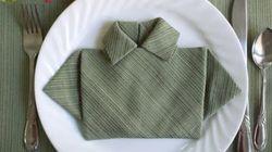6 maneras ridículamente simples de doblar servilletas