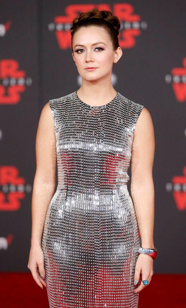 Billie Lourd homenajea a Carrie Fisher en el estreno de 'Star Wars VIII: Los últimos
