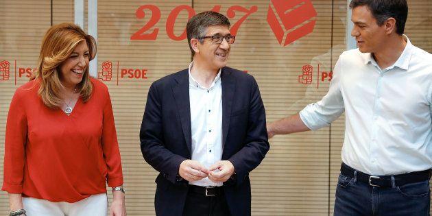 Susana Díaz, Patxi López y Pedro