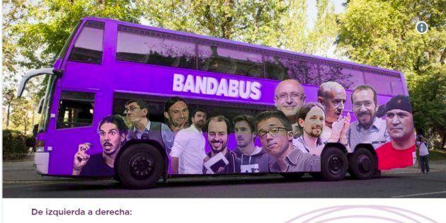El PP saca el 'bandabús', la respuesta al 'tramabús' de