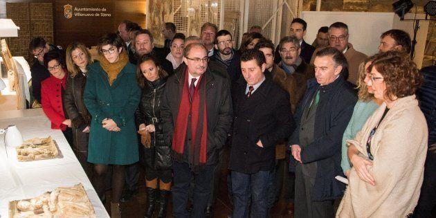 El presidente de Aragón critica que las obras de Sijena están en un estado
