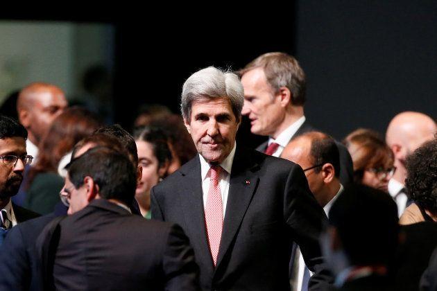 El que fuera secretario de Estado norteamericano, John Kerry, en el plenario de la cumbre de