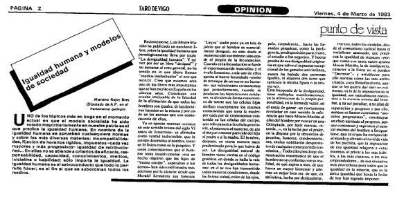 El polémico artículo donde Rajoy dice que