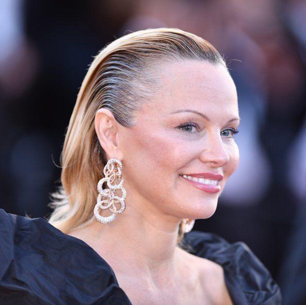 La actriz Pamela Anderson en el pase de '120 Battements par Minute' ('120 pulsaciones por minuto') que...