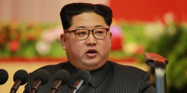 Kim Jong Un, líder de Corea del Norte en Pyongyang.