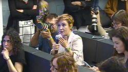 Rajoy despacha las tres preguntas de Cristina Pardo en la rueda de prensa en pocos segundos y con muy malos