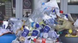 Quejas por los montones de basura en el aeropuerto de Ibiza tras seis días de
